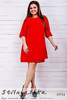 Легкое шифоновое платье для полных красное, фото 1