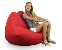"""Кресло мешок """"Губы""""цвет 001 бескаркасное кресло,пуфик мешок,кресло пуф, мягкое кресло пуф."""