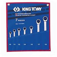 Набор ключей комби с трещеткой 7 шт. (10-19мм) KING TONY