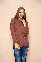 Терракотовый женский свитер Линда ТМ Arizzo 44-46 размеры