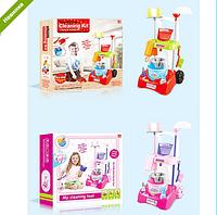 Игровой набор детский для уборки Тележка с принадлежностями 17005-06