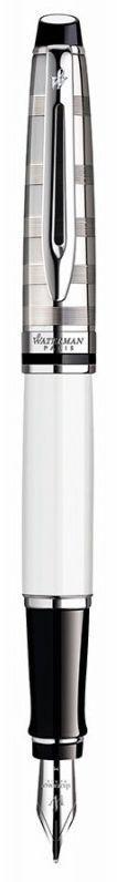 Ніжна пір'яна ручка Waterman EXPERT Deluxe White CT FP 10 039 білий