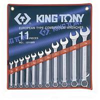 Набор ключей комби 11 шт. (8-24 мм) KING TONY