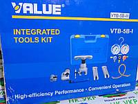Набор для мастера VALUE VTB-5B-111, 2 трубореза, вальцовка 808 I, коллетор, шланги с кранами ,2 переходника.