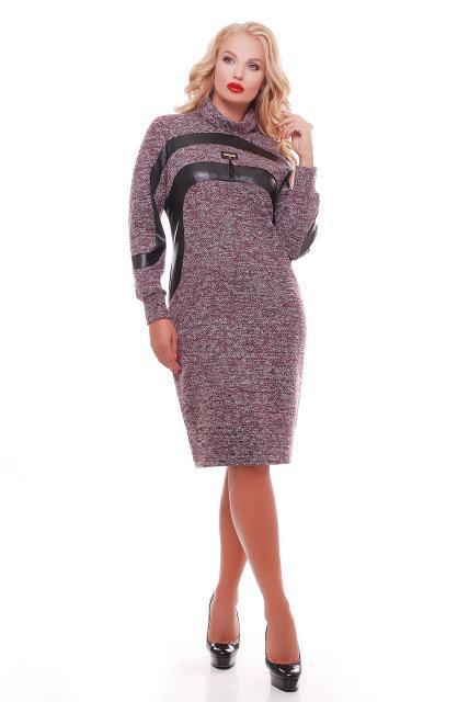 2780cb7e364 Женское теплое красивое платье Клеопатра цвет бордо размер 52-58   большие  размеры