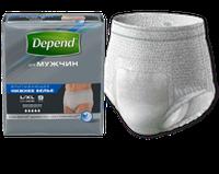 Впитывающие нижнее белье, трусики Depend для мужчин L/XL, 1 шт!