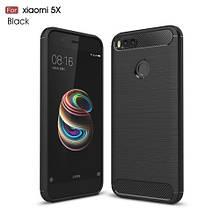 Чехол накладка TPU Fiber Carbon для Xiaomi Mi A1 5X черный