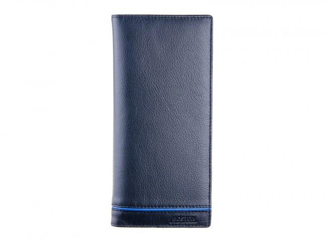Вертикальный мужской бумажник в итальянском стиле BOSTON из натуральной кожи (B3-017 Black)
