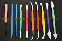 Набор инструментов для работы с мастикой и марципаном 10 предметов