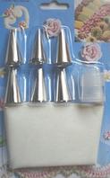 Набор кондитерских насадок с мешком