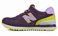 Женские кроссовки New Balance 574, Нью Беланс 574 фиолетовые