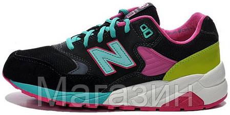 Женские кроссовки New Balance 580, Нью Беланс 580 черные, фото 2
