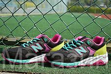 Женские кроссовки New Balance 580, Нью Беланс 580 черные, фото 3