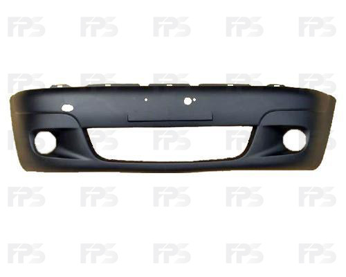 Передний бампер Daewoo Matiz 01- без шины (черный) (FPS) FP 2201 900-P