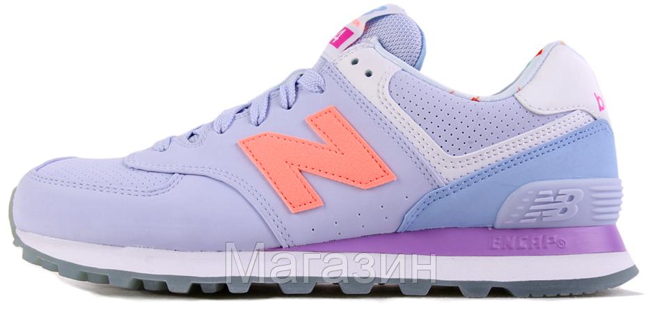 Женские кроссовки New Balance 574 Нью Беленс 574 голубые