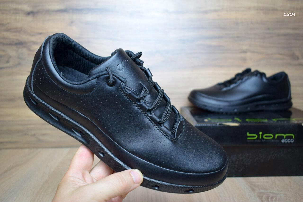 Мужские зимние туфли+кроссовки ECCO BIOM ЭККО кожа черные реплика (реальные  фото) - cd6d98003f2