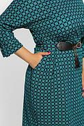 Женское нарядное коктейльное платье Тэйлор цвет бирюза размер 52-58 / большие размеры , фото 3