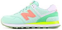 Женские кроссовки New Balance 574, Нью Баланс 574 зеленые