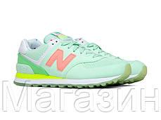 Женские кроссовки New Balance 574 Нью Баланс 574 зеленые, фото 3