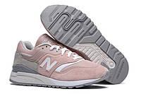 Женские кроссовки New Balance 997,5, Нью Баланс 997.5 розовые с серым