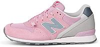 Женские кроссовки New Balance 996, Нью Баланс 996 розовые с серым