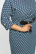 Женское нарядное коктейльное платье Тэйлор цвет принт размер 52-58 / большие размеры , фото 3