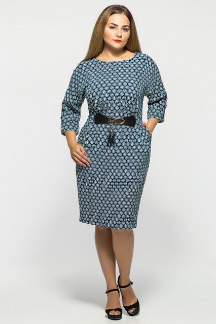Женское нарядное коктейльное платье Тэйлор цвет принт размер 52-58 / большие размеры