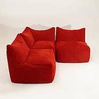 """Модульный диван """"Лила"""" красный, бескаркасный диван,диван мешок,диван бескаркасный,диван,мягкая мебель."""
