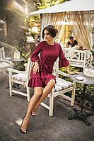 Женское модное платье интересного цвета марсала