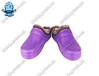 Женские галоши (Код: TS без задника фиолет)