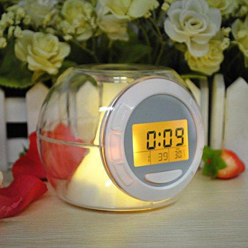 Часы светящиеся диодные changing alarm clock, 7 цветов