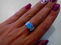 Великолепное кольцо с камнем огненный опал в серебре. Тайланд