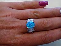 Великолепное кольцо с камнем огненный опал в серебре.Кольцо с опалом. Тайланд