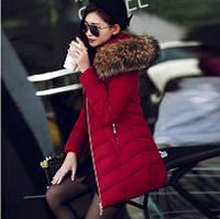 Зимний женский пуховик. Со съемным капюшоном. Модель 62126