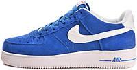 Мужские кроссовки Nike Air Force 1 Low Blazer Prize Blue, найк аир форс