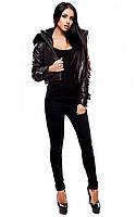 (M / 44-46) Жіноча осіння чорна куртка Kristal