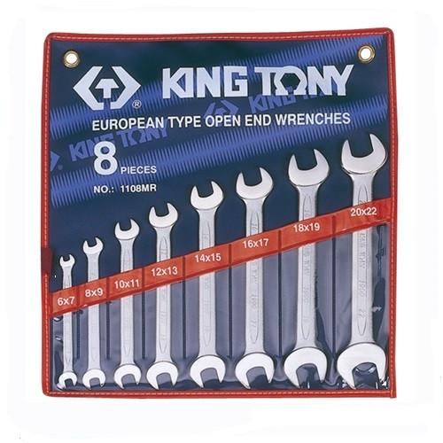 Набор ключей рожковых 8 шт. (6-22 мм) KING TONY