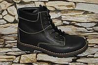 Кожаные зимние женские ботинки. Натуральная кожа
