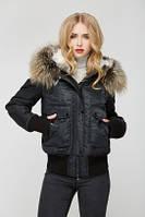 Женская куртка-бомбер с мехом Cross Fox