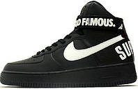 Мужские кроссовки Nike Air Force 1 High Supreme Black, найк аир форс