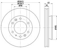 Тормозной диск METELLI 231636C на DAEWOO EVANDA (KLAL)