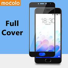 Защитное стекло Mocolo Full сover для Meizu M5s черный