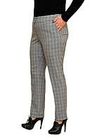 Красивые женские брюки большого размера клетка - Модель Л273-1