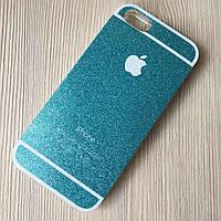 Cиликоновый чехол голубой для iphone 5/5S, фото 1