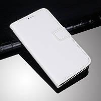 Чехол Idewei для Doogee X5 max / X5 max Pro книжка белый кожа PU