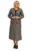 """Модный женский пиджак большого размера """"Оптима"""" - Модель 1036-3п"""
