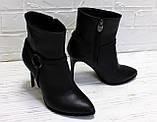 Женские ботинки на шпильке, натуральная кожа. Возможен отшив в других цветах кожи и замша, фото 2