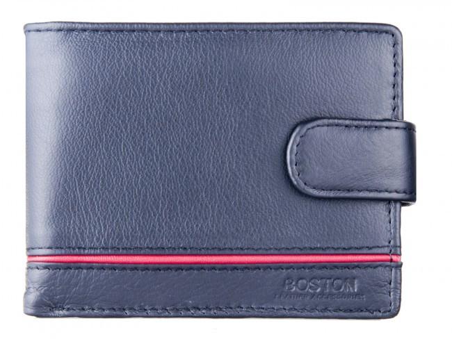 Классический мужской портмоне из натуральной кожи в италийском стиле BOSTON (B2-001 Black)