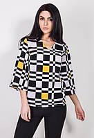 Женская шифоновая блуза с абстрактным рисунком. Модель 2366, коллекция осень 2017