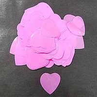 Конфетти сердечки розовые 25г